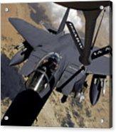 An F-15 Strike Eagle Prepares Acrylic Print by Stocktrek Images