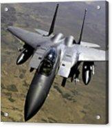 An F-15e Strike Eagle Aircraft Acrylic Print