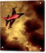 An F-16 Flies Through Hell Acrylic Print