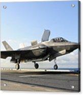 An F-35b Lightning II Lifts Acrylic Print
