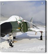 An F-4d Phantom II Aircraft Static Acrylic Print