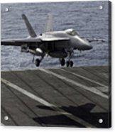 An Fa-18e Super Hornet Prepares To Land Acrylic Print