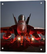 An Fa-18f Super Hornet Parked Acrylic Print