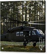 An Hh-60 Pave Hawk Evacuates Injured Acrylic Print