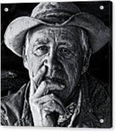 An Honest Man Acrylic Print by Ron  McGinnis