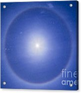 An Ice Crystal Halo Around The First Acrylic Print