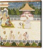 An Illustration Depicting Maharaja Ajit Singh Instructing A Scribe Acrylic Print