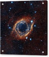 A Look In Infrared At The Helix Nebula Acrylic Print
