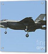 An Italian F-35a Aircraft Acrylic Print
