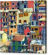 An Italian Village Acrylic Print