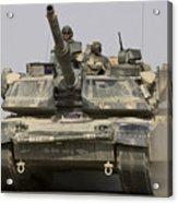 An M1a1 Abrams Tank Heading Acrylic Print