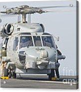 An Mh-60r Seahawk Embarked Aboard Uss Acrylic Print