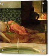 An Odalisque In A Harem Acrylic Print by Benjamin Constant
