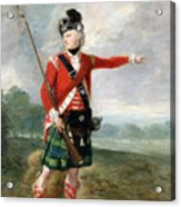 An Officer Of The Light Company Of The 73rd Highlanders Acrylic Print by Scottish School