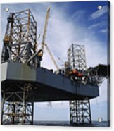 An Oil And Gas Drilling Platform Acrylic Print