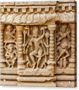 An Old Carving Of Shiva At Abhaneri Acrylic Print