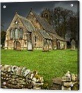 An Old Church Under A Dark Sky Acrylic Print