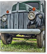 An Old Green Ford Truck Acrylic Print