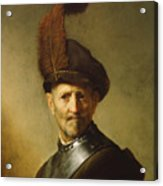 An Old Man In Military Costume Acrylic Print