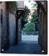 An Old Street In Jerusaem Acrylic Print