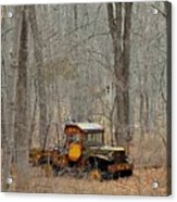 An Old Truck In The Woods. Acrylic Print