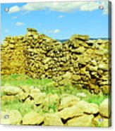 An Old Wall At The Pecos Ruins Acrylic Print