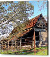 An Old Weathered Barn Acrylic Print