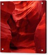 An Orange Chamber Antelope Canyon Acrylic Print