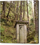 An Outhouse In A Moss Covered Forest Acrylic Print