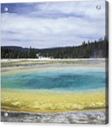 An Upper Geyser Basin At Chromatic Acrylic Print