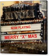 An X Rated Holiday Acrylic Print