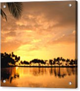 Anaehoomalu Bay Sunset Acrylic Print