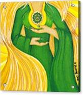 Anahata Heart Chakra Goddess Acrylic Print