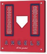 Anaheim Angels Art - Mlb Baseball Wall Print Acrylic Print