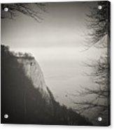 Analog Black And White Photography - Rugen Island - Koenigsstuhl Chalk Cliff Acrylic Print
