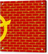 Anarchy Graffiti Red Brick Wall Acrylic Print