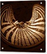 Anasazi Butterfly Pot Acrylic Print