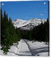Anchorage Mountains Acrylic Print