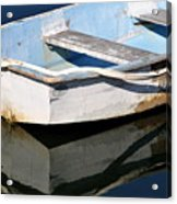 Anchored In The Harbor Acrylic Print