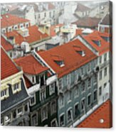 Ancient Buildings At Lisbon. Portugal Acrylic Print