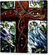 Ancient Cross Acrylic Print