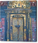 Ancient Door In Katmandu Nepal Acrylic Print
