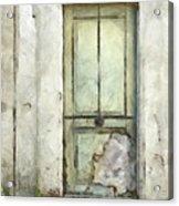 Ancient Doorway Rome Italy Pencil Acrylic Print