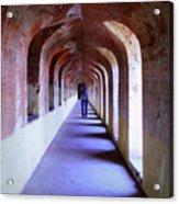 Ancient Gallery At Bada Imambara Acrylic Print