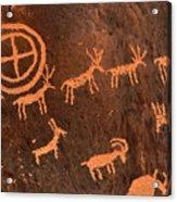 Ancient Indian Petroglyphs Acrylic Print