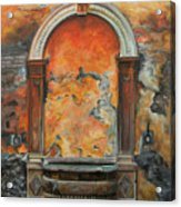 Ancient Italian Fountain Acrylic Print by Charlotte Blanchard