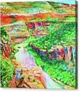 Ancient One Views River Acrylic Print