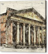 Ancient Pantheon Acrylic Print
