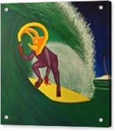 Ancient Relic Surfing Acrylic Print