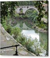 Ancient Roman Foot Bridge Acrylic Print